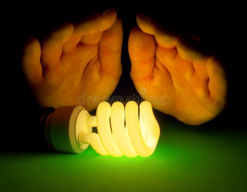 Lampada fluorescente calda immagine stock libera da diritti