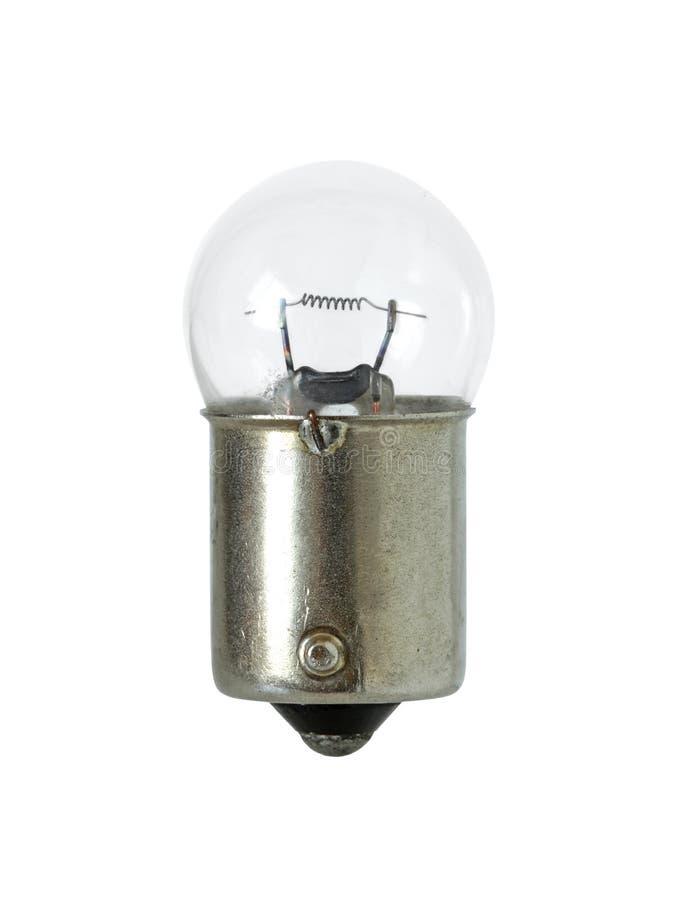 Lampada incandescente di forma della palla isolata sul clippi bianco del fondo immagine stock libera da diritti