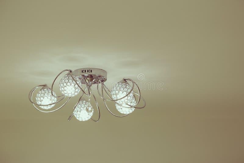 Lampada interna di lusso di illuminazione per la decorazione domestica fotografia stock libera da diritti