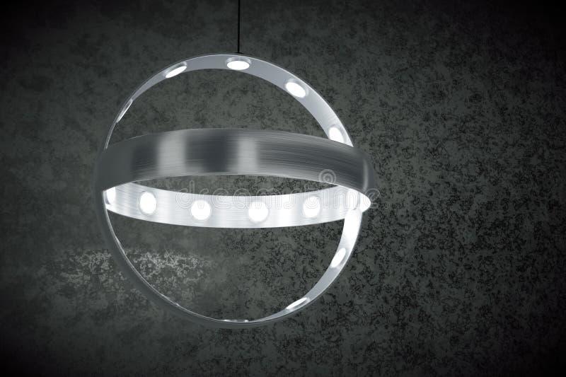 Lampada-lampadario a bracci d'attaccatura moderno illustrazione vettoriale
