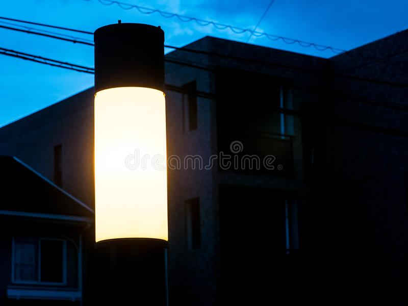 Lampada leggera sull'hotel della parete immagine stock libera da diritti