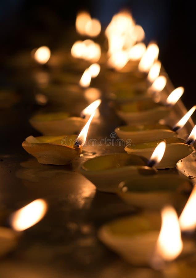Lampada a olio di Diwali immagini stock