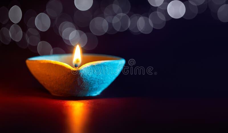 Lampada a olio di Diwali immagini stock libere da diritti
