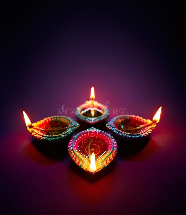 Lampada a olio di Diwali immagine stock