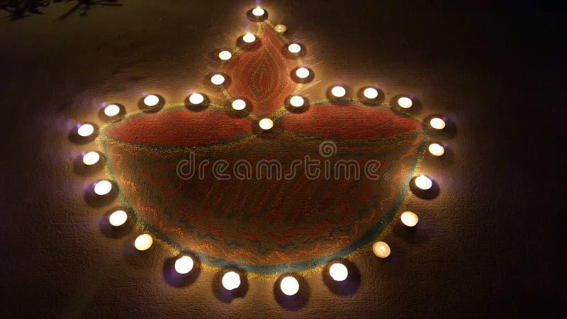 Lampada a olio di verdure durante il Diwali immagine stock libera da diritti