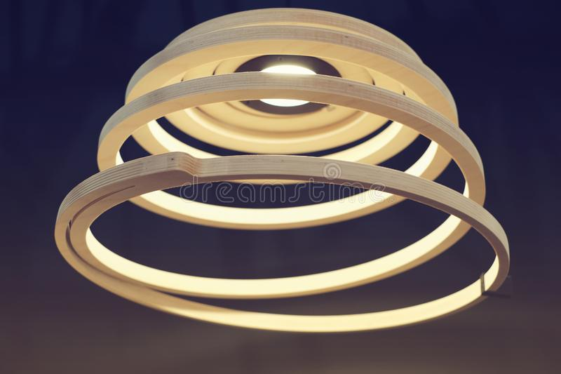 Lampada a spirale fotografie stock libere da diritti