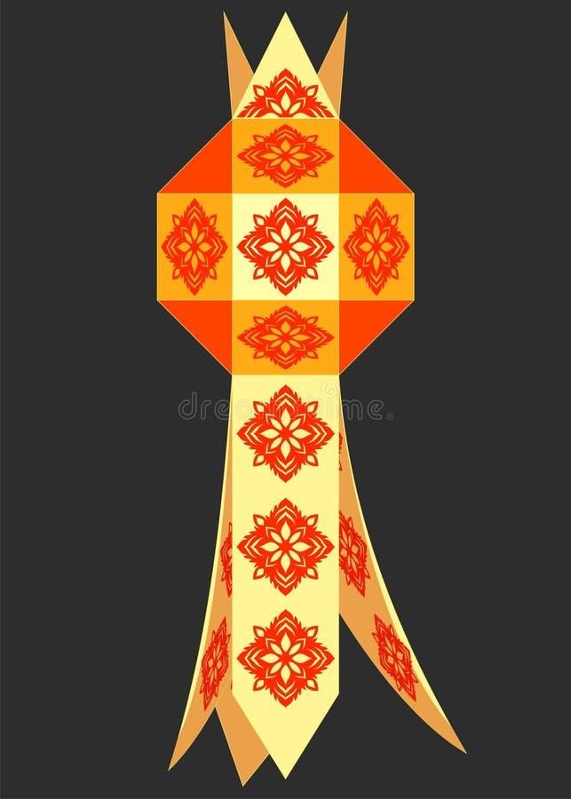 Lampada tailandese nordica tradizionale illustrazione di stock
