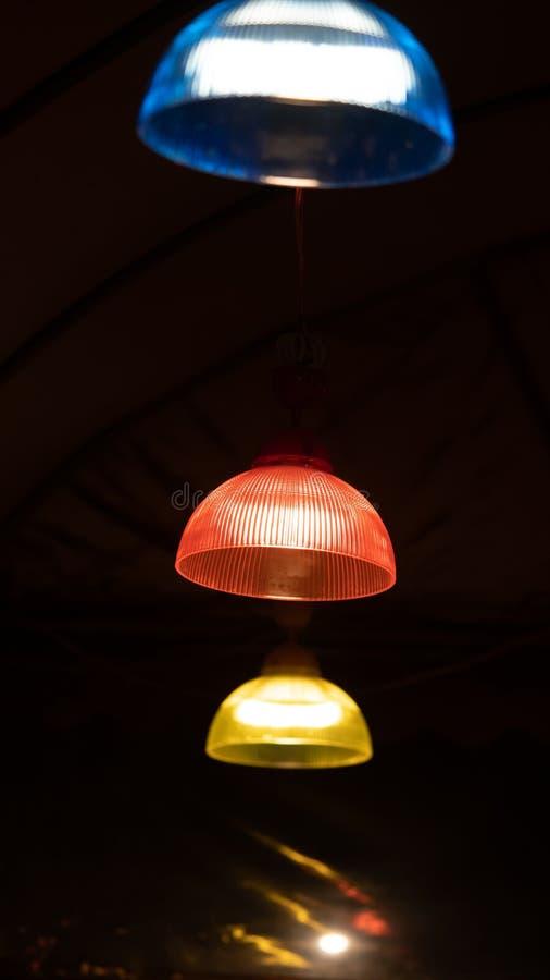 Lampada a tre colori fotografia stock libera da diritti