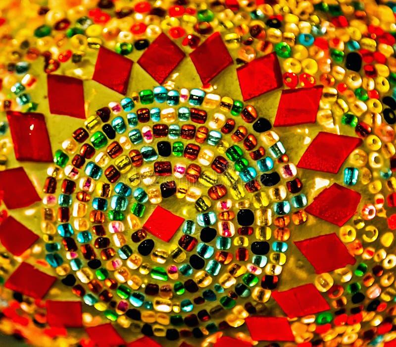 Lampada variopinta del mosaico fatto a mano arabo immagine stock libera da diritti