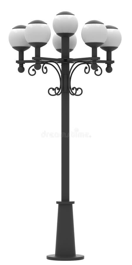 Lampadaire de rue illustration de vecteur