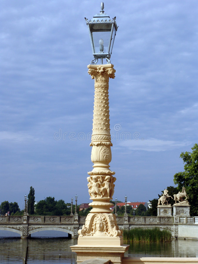 Lampadaire de Schwerin photo libre de droits