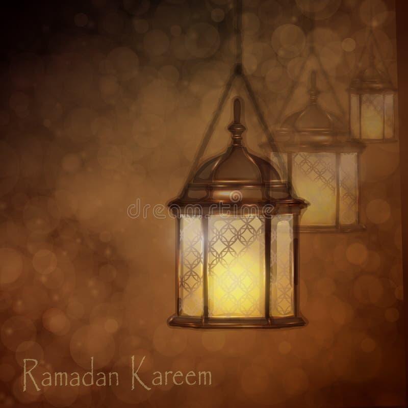 Lampade arabe complesse con le luci royalty illustrazione gratis