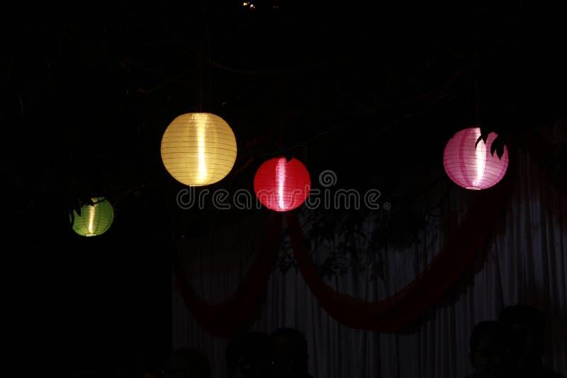 Lampade Colourful fotografia stock libera da diritti