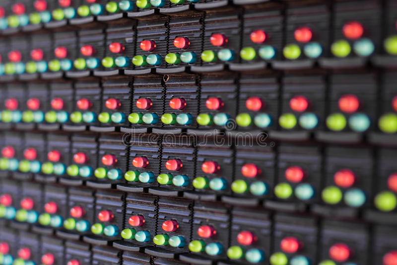 Lampade del LED nell'elettronica fotografie stock
