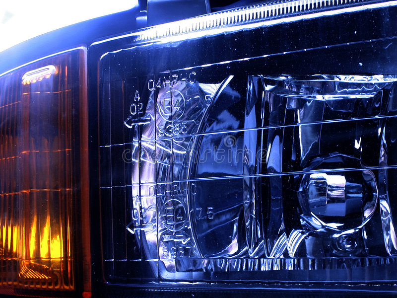 Lampade dell'automobile fotografia stock libera da diritti