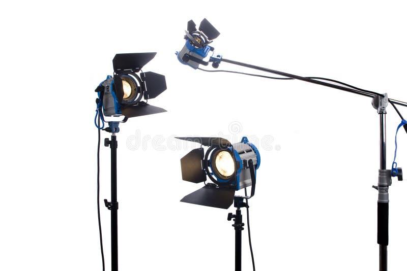 Lampade di film isolate su bianco fotografie stock