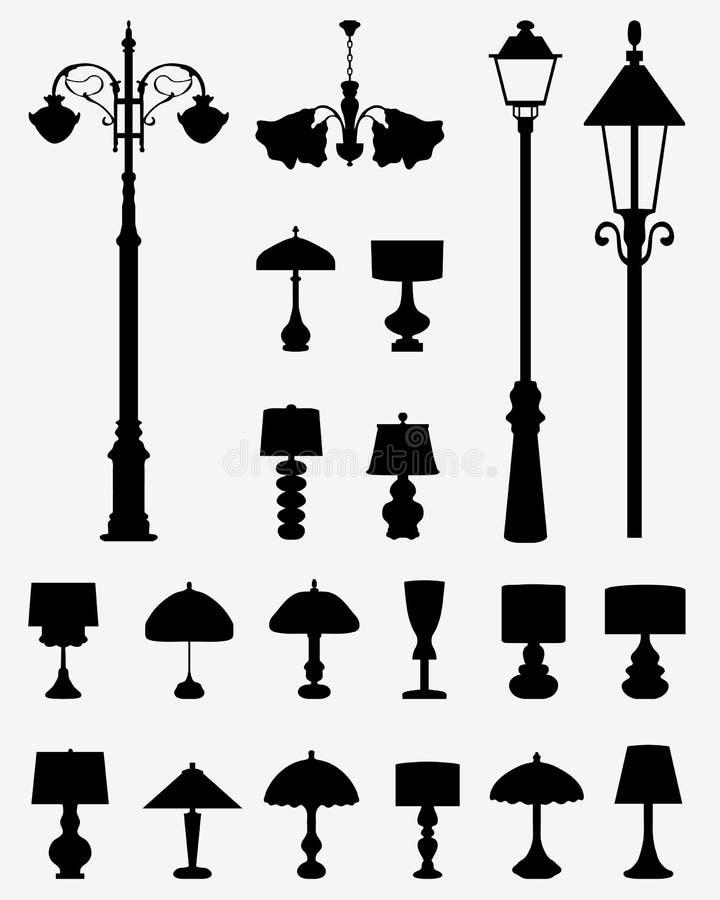 Lampade e lanterne illustrazione vettoriale
