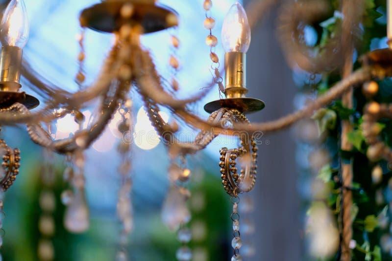 Lampade elettriche sotto forma di candele immagini stock libere da diritti