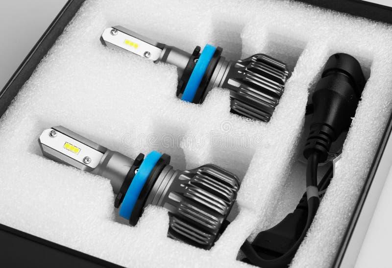 Lampade LED per auto in box immagine stock