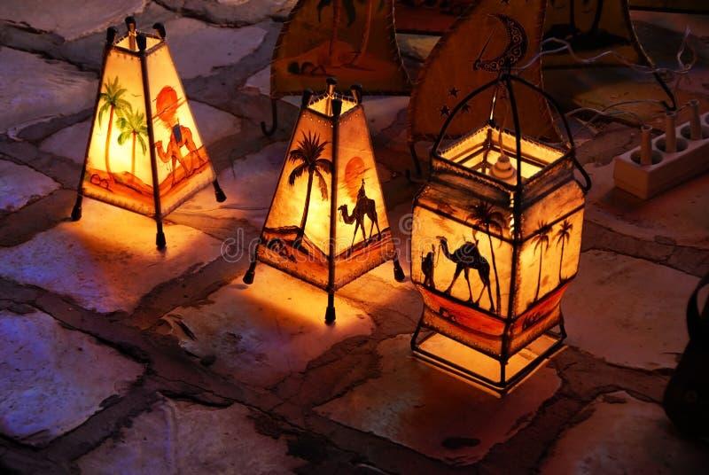 Lampade tunisine decorative fotografia stock