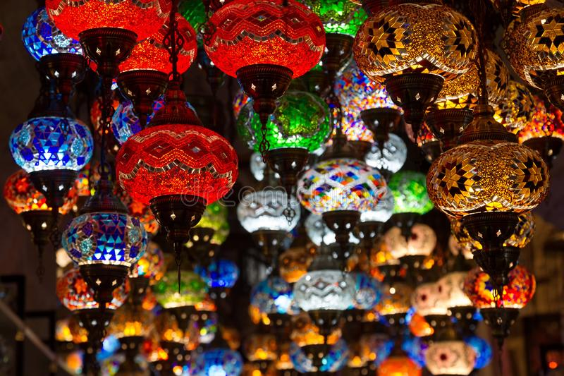 lampade turche in negozi di regalo immagini stock libere da diritti