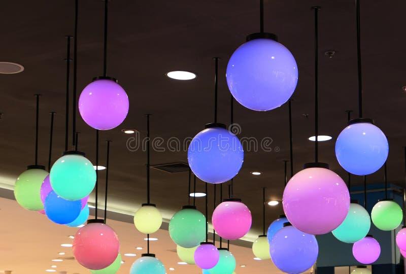 Lampade variopinte della palla fotografie stock libere da diritti