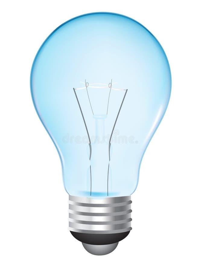Lampadina blu illustrazione di stock