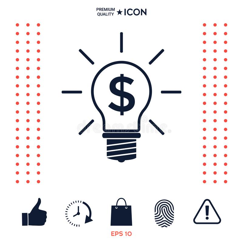 Download Lampadina Con Il Concetto Di Affari Di Simbolo Del Dollaro Illustrazione Vettoriale - Illustrazione di idee, indennità: 117975792