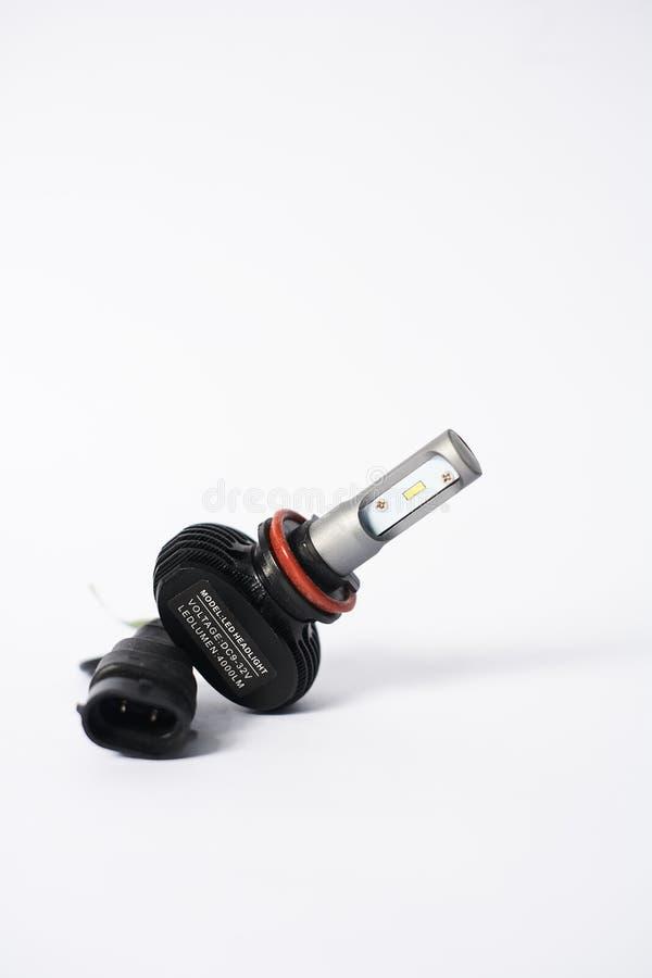 Lampadina del faro di H11 LED fotografia stock libera da diritti