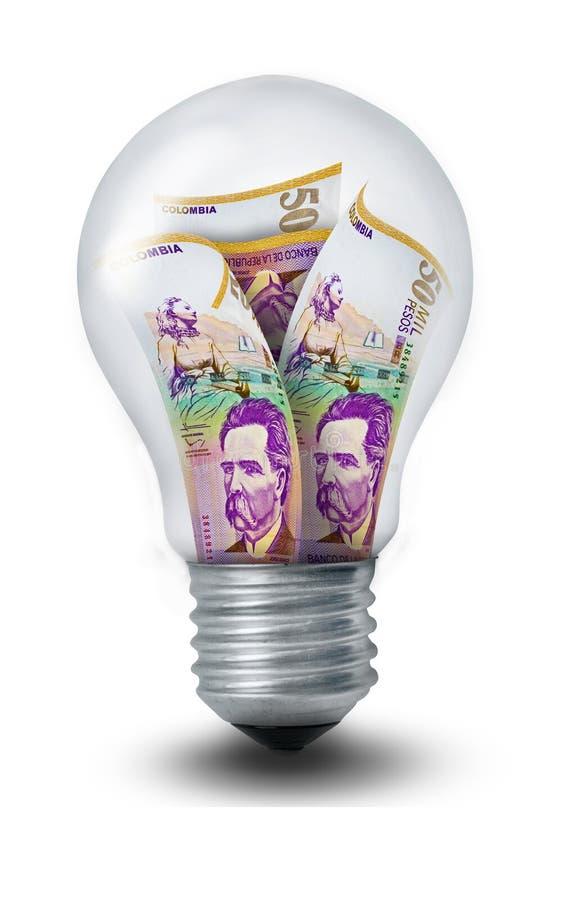 Lampadina del peso colombiano royalty illustrazione gratis