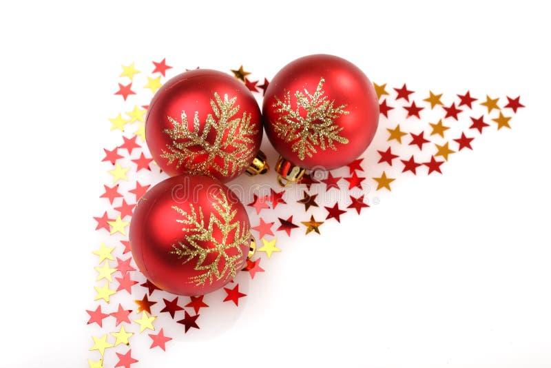Lampadina delle decorazioni dell'albero di Natale immagine stock