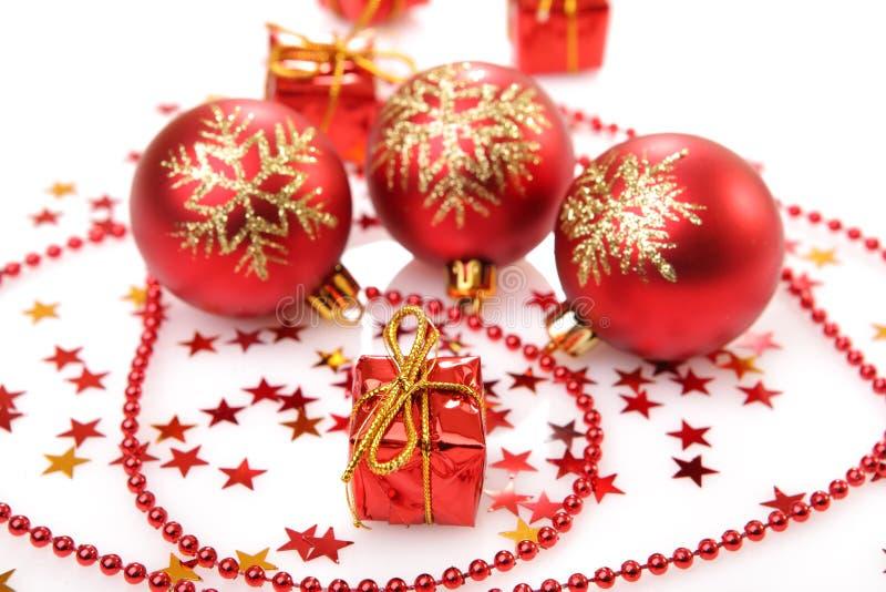 Lampadina delle decorazioni dell'albero di Natale immagine stock libera da diritti