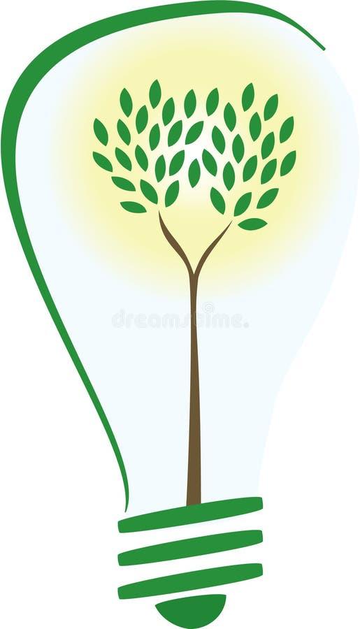 Lampadina di energia verde illustrazione vettoriale