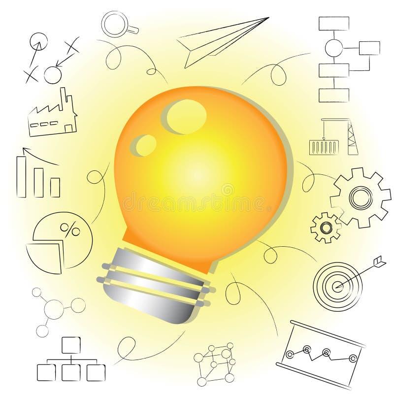 Lampadina di idea, soluzione creativa royalty illustrazione gratis
