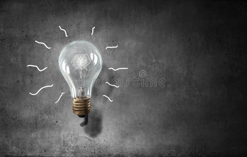 Lampadina di vetro elettrica Media misti immagini stock