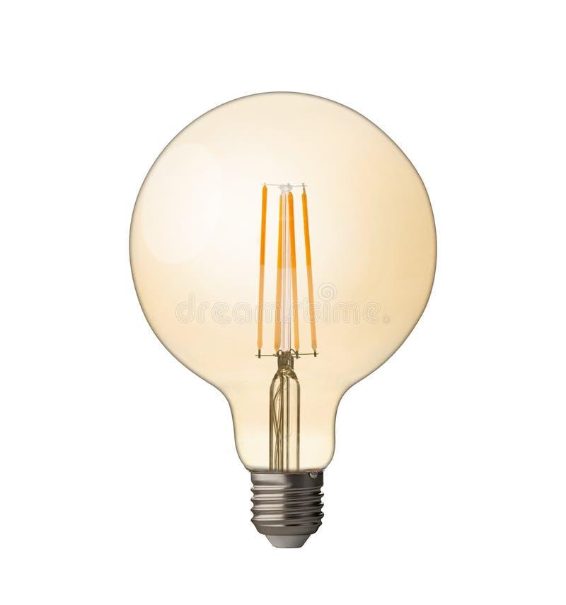 Lampadina E27 del filamento del LED Con il percorso di ritaglio immagini stock libere da diritti