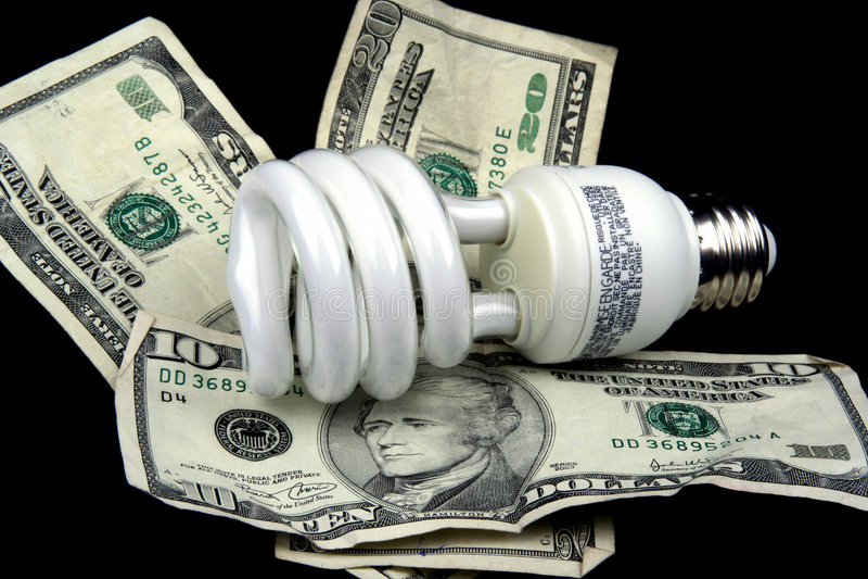 Lampadina economizzatrice d'energia immagine stock