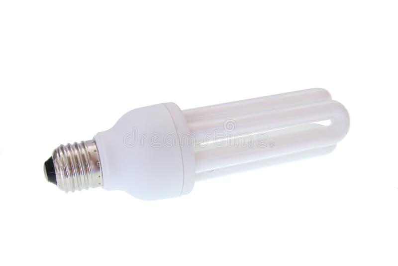 Lampadina economizzatrice d'energia fluorescente fotografia stock libera da diritti