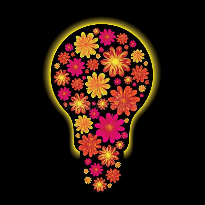 Lampadina floreale royalty illustrazione gratis