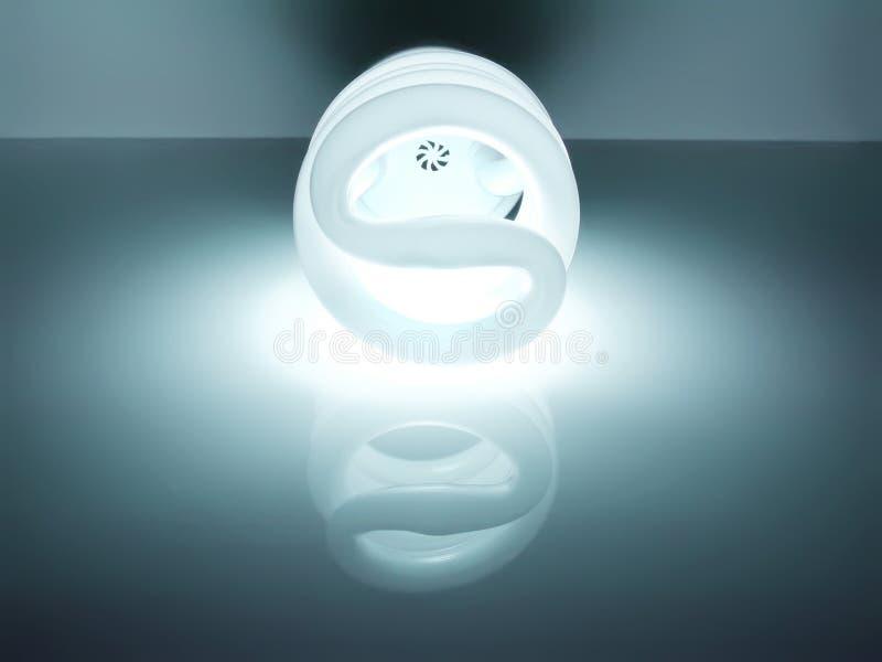 Lampadina fluorescente economizzatrice d'energia immagine stock