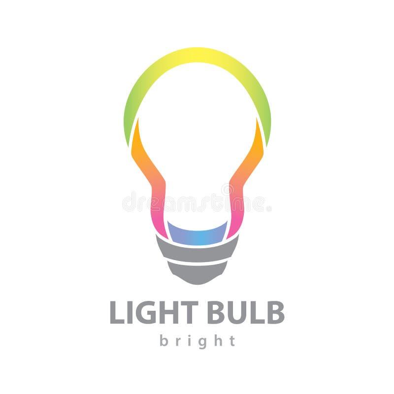 Lampadina luminosa illustrazione vettoriale