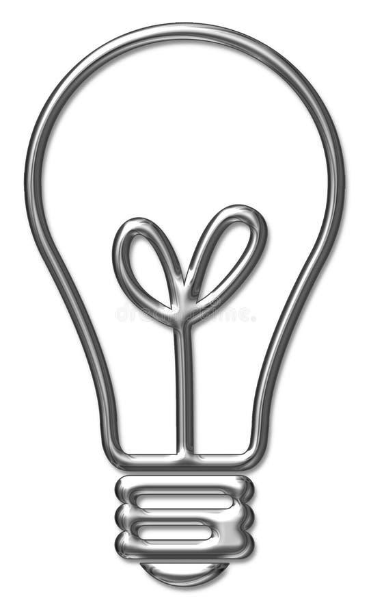 Lampadina metallica illustrazione vettoriale