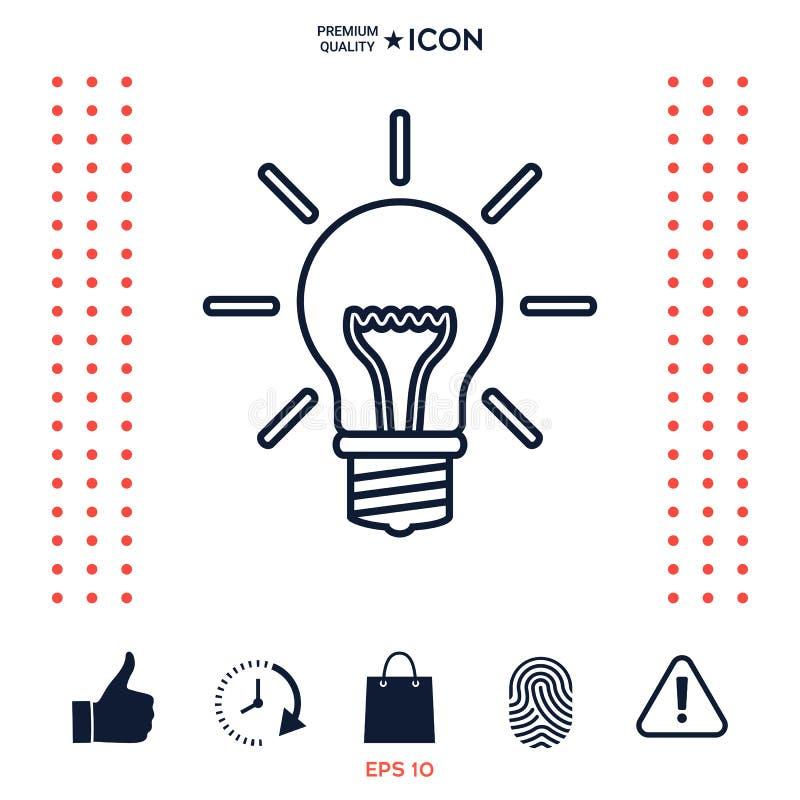 Download Lampadina - Nuove Idee Linea Icona Illustrazione Vettoriale - Illustrazione di illuminazione, energia: 117975802