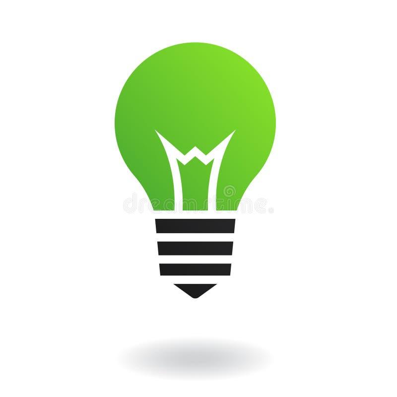 Lampadina verde royalty illustrazione gratis