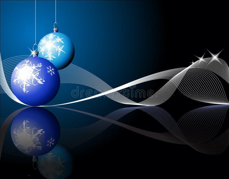 Lampadine blu di natale illustrazione vettoriale