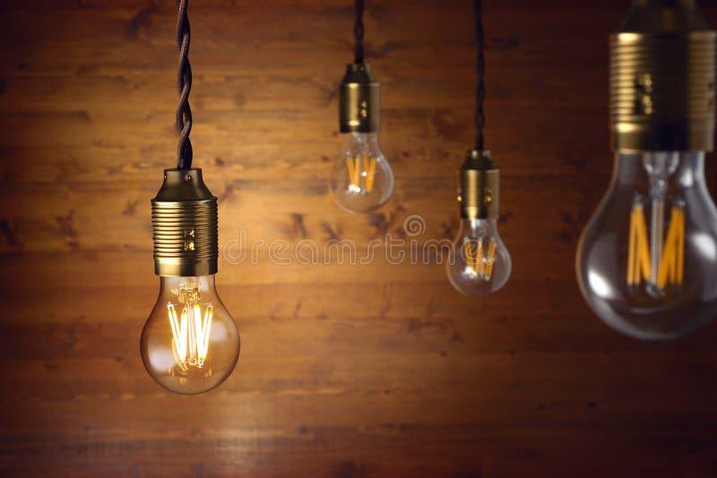Lampadine del filamento del LED immagini stock