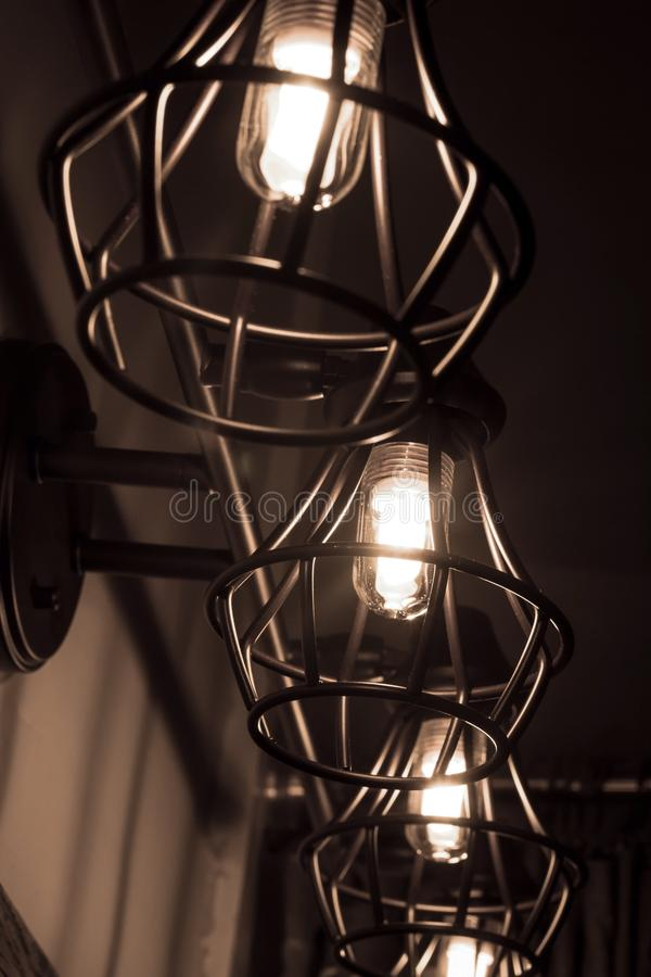 Lampadine di Edison fotografia stock