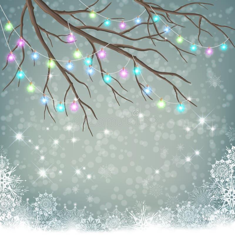 Lampadine di Natale illustrazione vettoriale