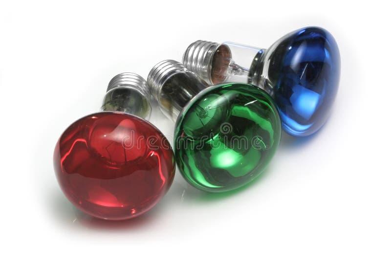 Lampadine di RGB fotografia stock libera da diritti