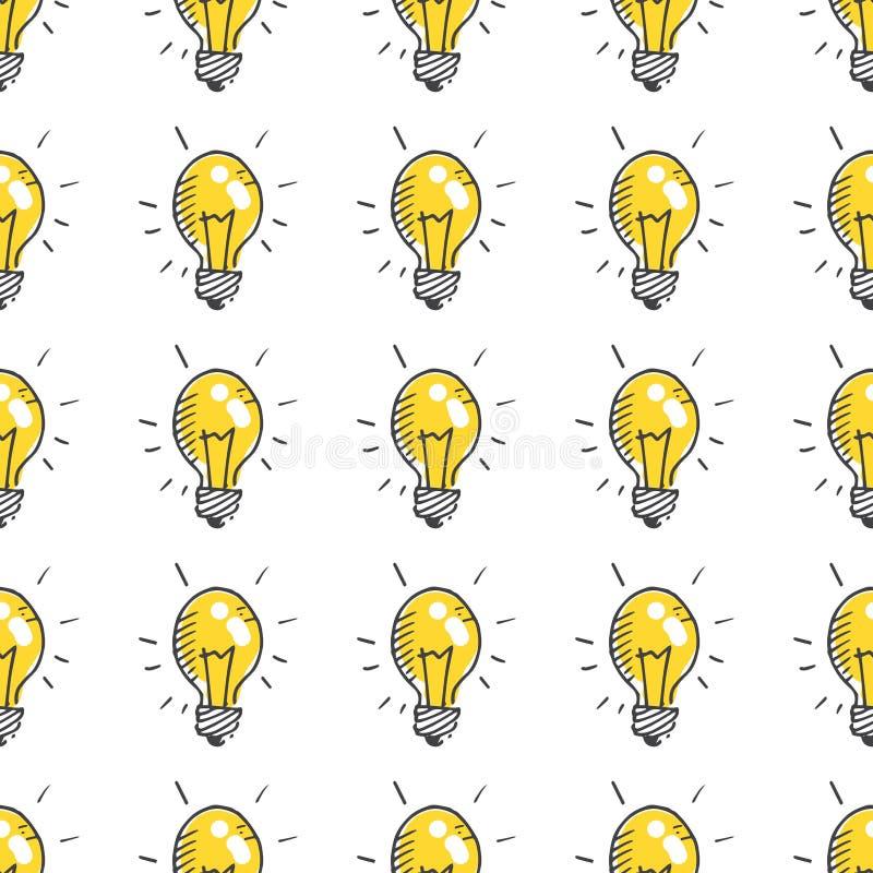 Lampadine di scarabocchio royalty illustrazione gratis